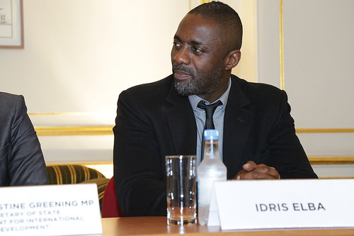 Actor Idris Elba at the 'Defeating Ebola in Sierrra Leone' conference